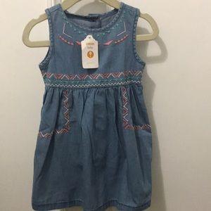 Carter's Dresses - NWT 'Southwestern' denim dress w/bloomers (12-18m)